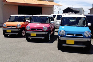 当店では、ジムニー以外にもSUZUKIの中古車を販売しております。ローンや保険の取扱い、車検・整備などのアフターフォローも万全です。また、オークション代行による中古車販売も承っておりますので、中古車をお探しの際はぜひご相談ください。